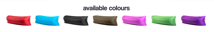 Available colours of Lamzac Bean Bags